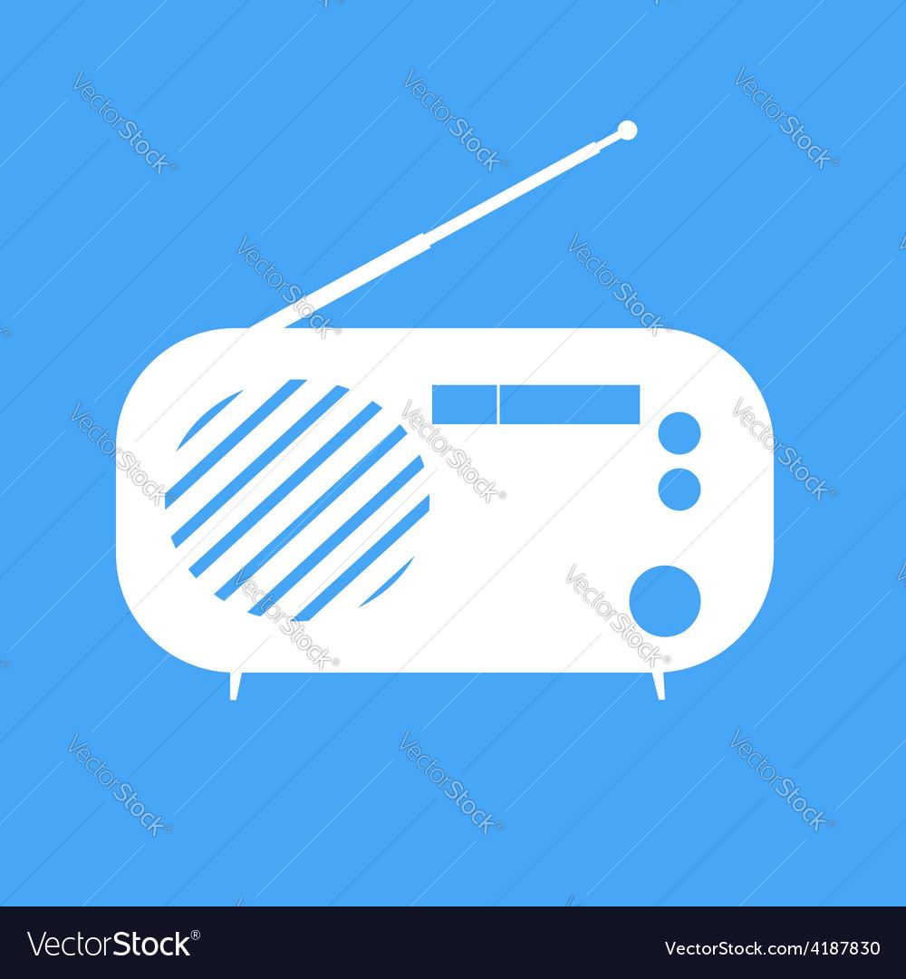 Vintage radio on blue background vector | Price: 1 Credit (USD $1)