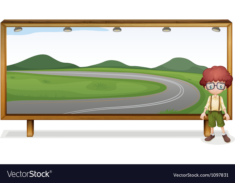 Boy and board vector | Price: 1 Credit (USD $1)