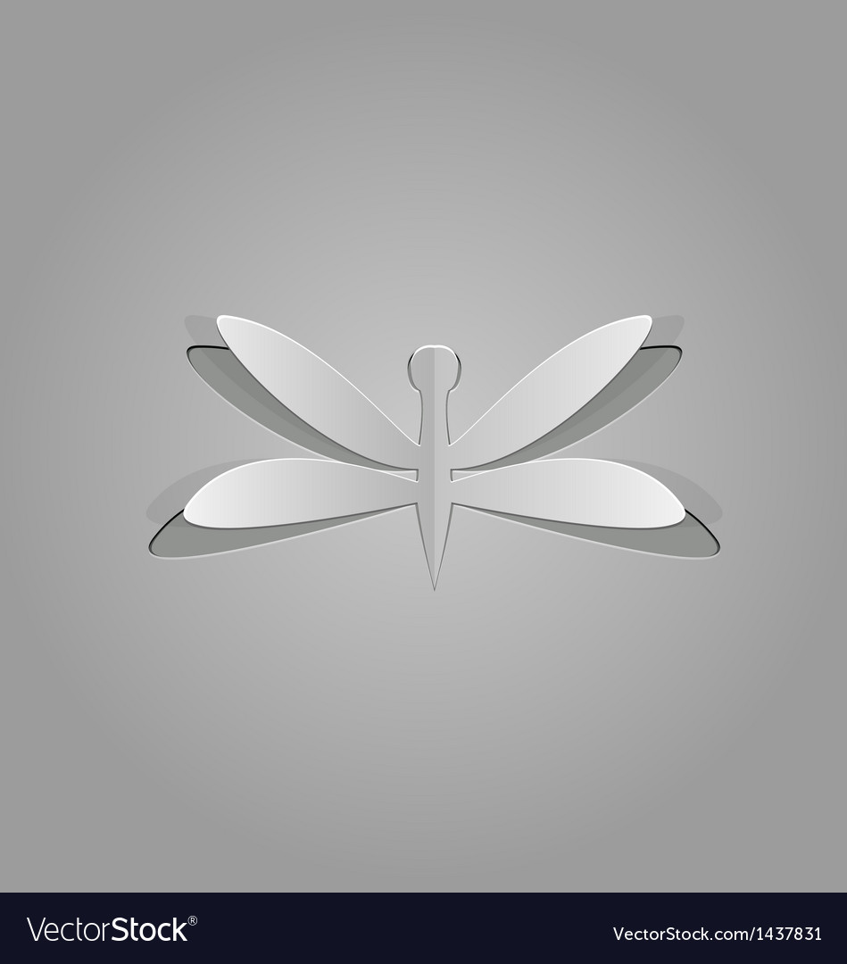 Dragonfly cut from paper vector | Price: 1 Credit (USD $1)