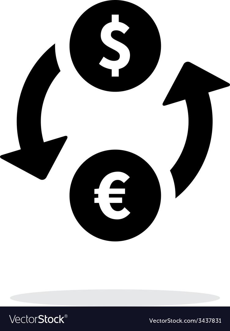 Exchange money icon on white background vector | Price: 1 Credit (USD $1)