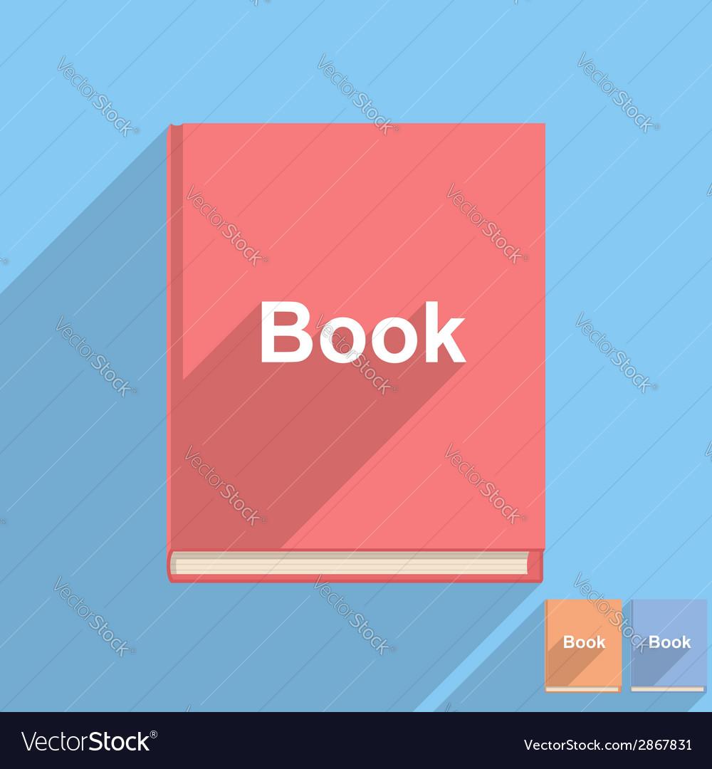 Flat book icon vector | Price: 1 Credit (USD $1)