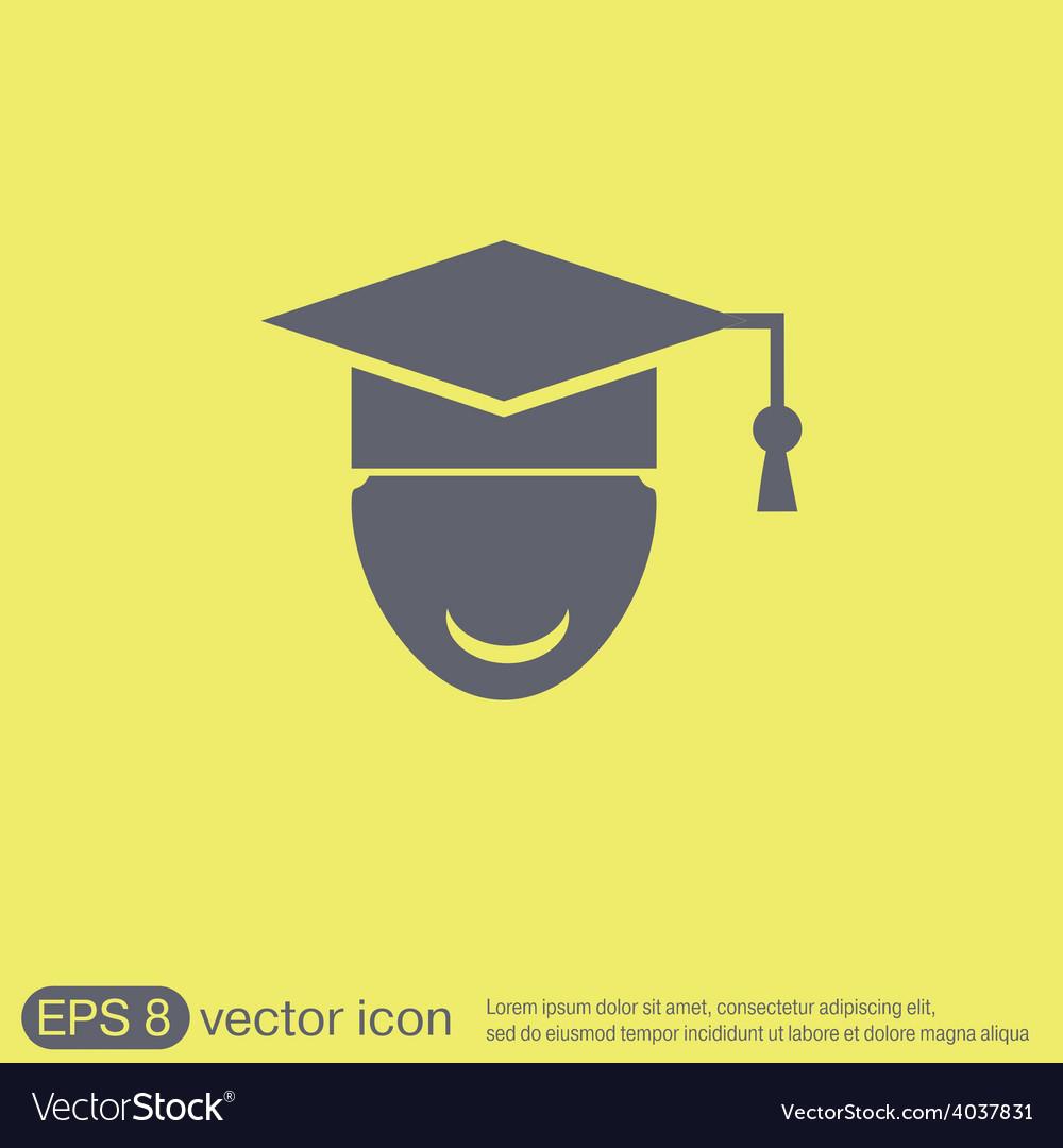 Graduate hat avatar symbol icon college or vector | Price: 1 Credit (USD $1)