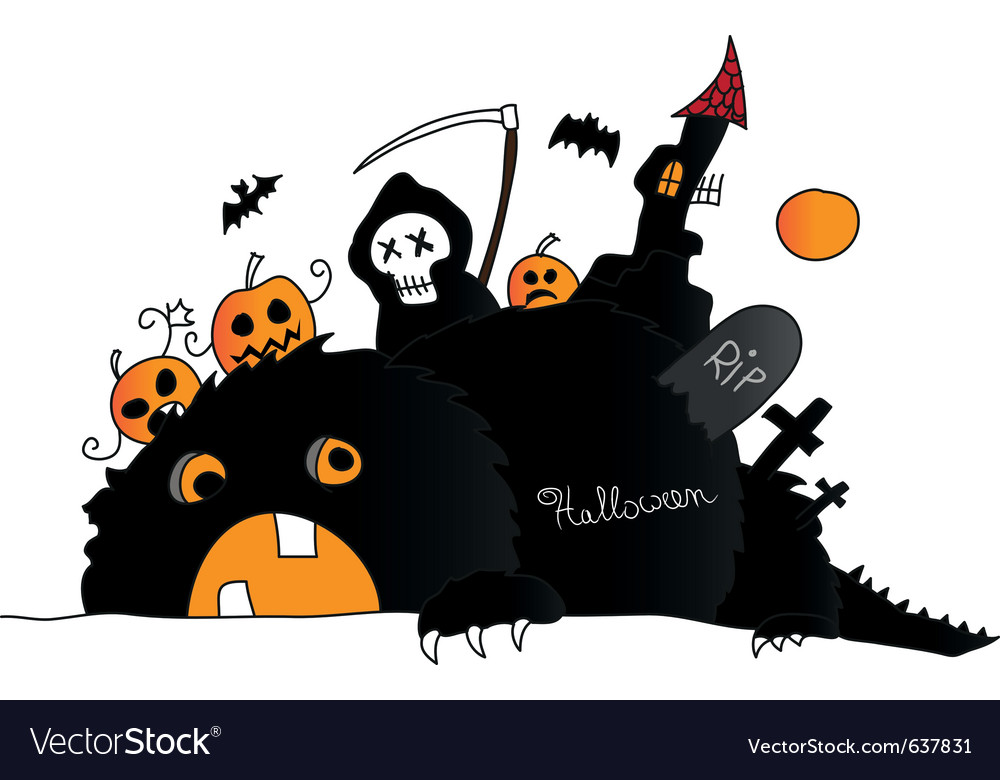 Halloween drawing vector | Price: 1 Credit (USD $1)