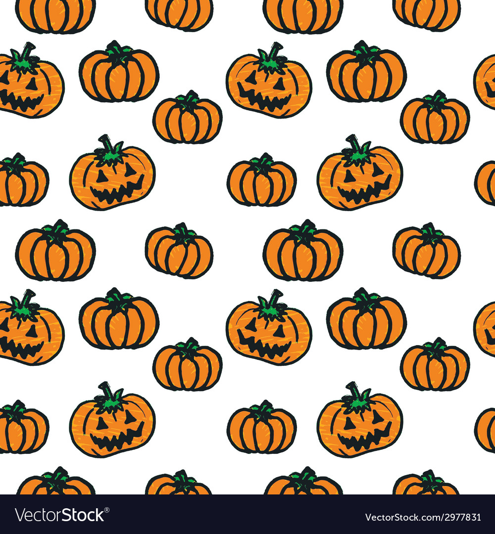 Hand-drawn halloween pumpkins vector | Price: 1 Credit (USD $1)