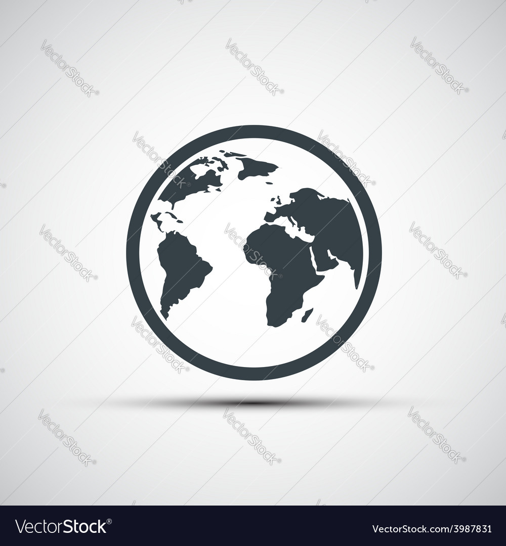 Icons planet earth vector