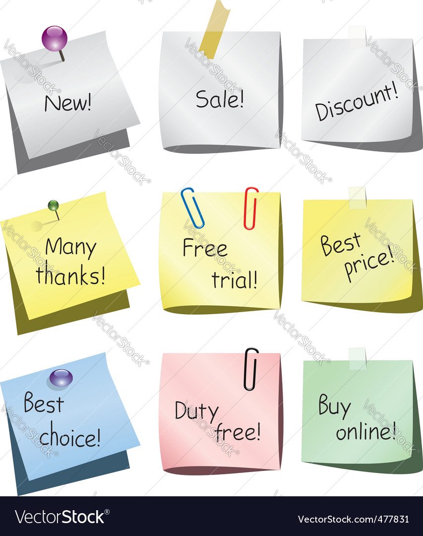 Paper notes vector | Price: 1 Credit (USD $1)
