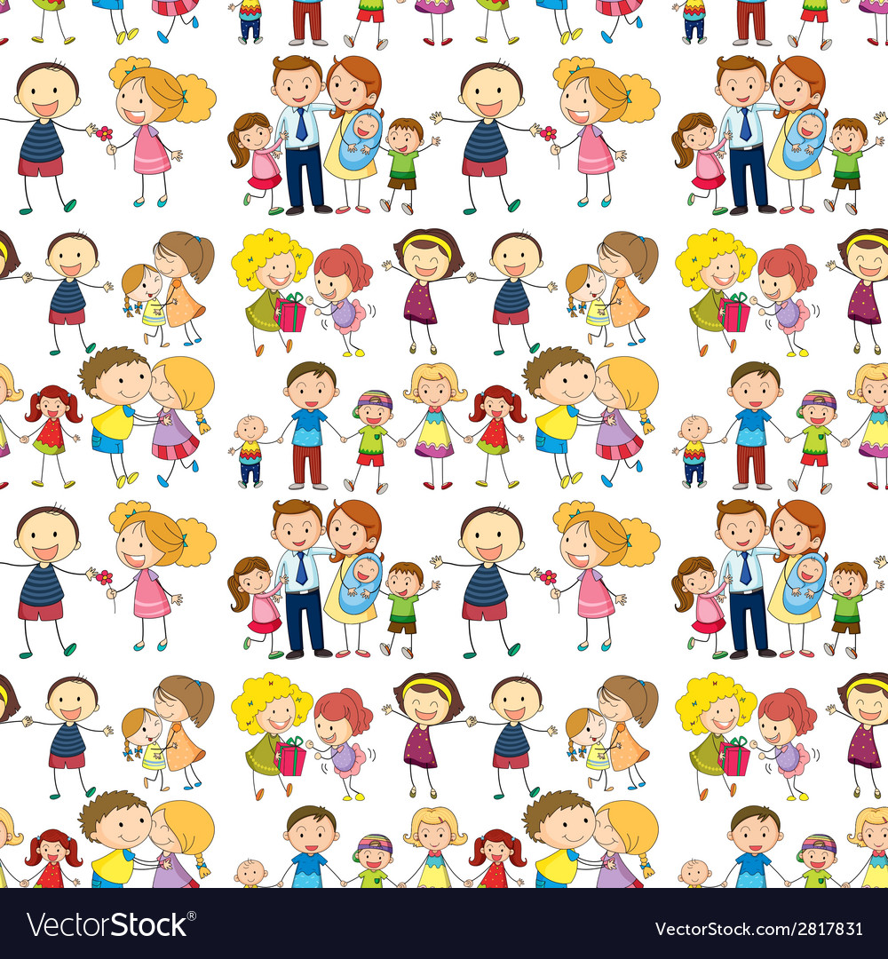 Seamless family vector | Price: 1 Credit (USD $1)
