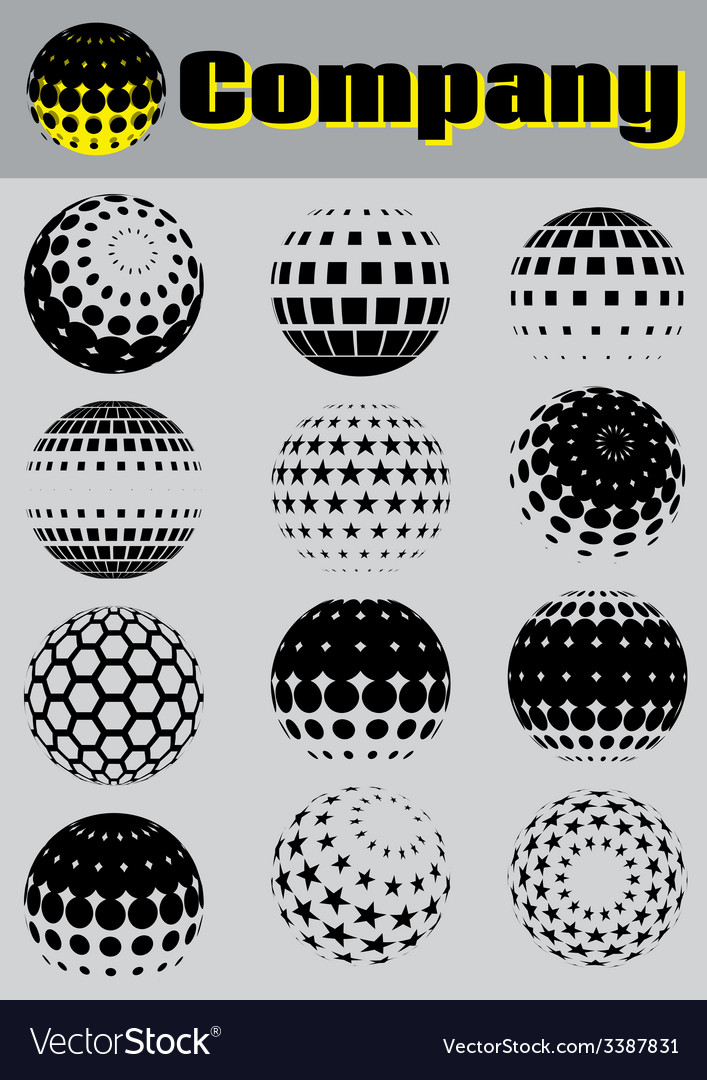 Set of pattern for making emblems vector   Price: 1 Credit (USD $1)