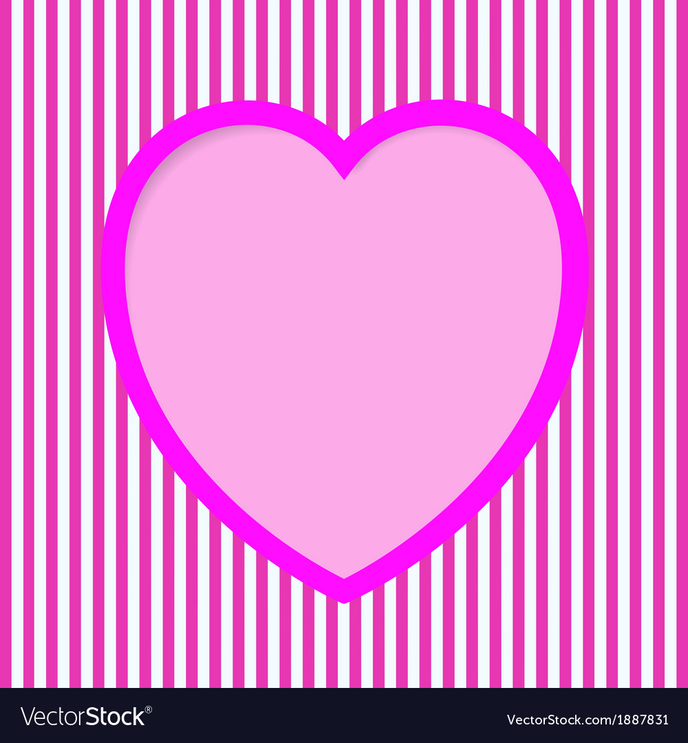 Striped valentine card vector | Price: 1 Credit (USD $1)