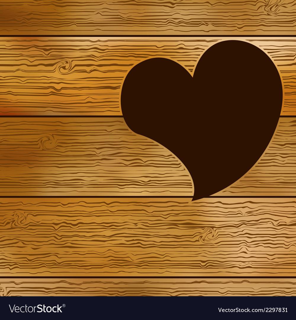 Wooden door  heart shape  eps8 vector   Price: 1 Credit (USD $1)