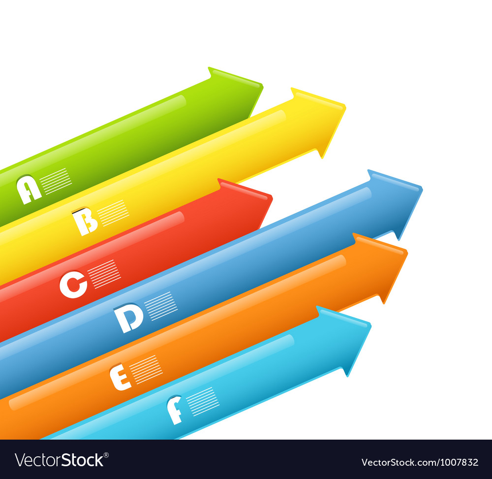 Abstract information arrow banners vector | Price: 1 Credit (USD $1)