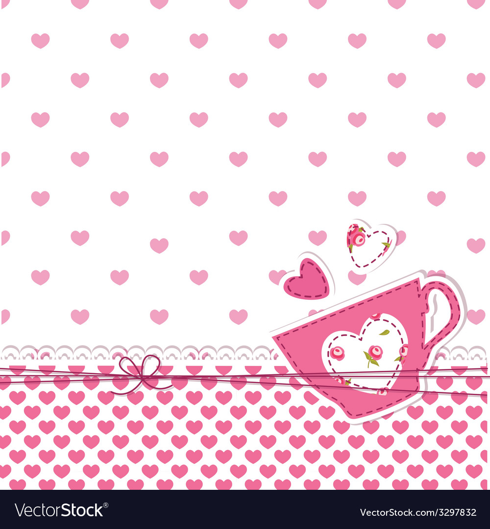 Baby shower with cup vector | Price: 1 Credit (USD $1)