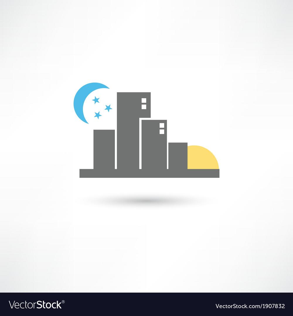 Big grey city vector | Price: 1 Credit (USD $1)
