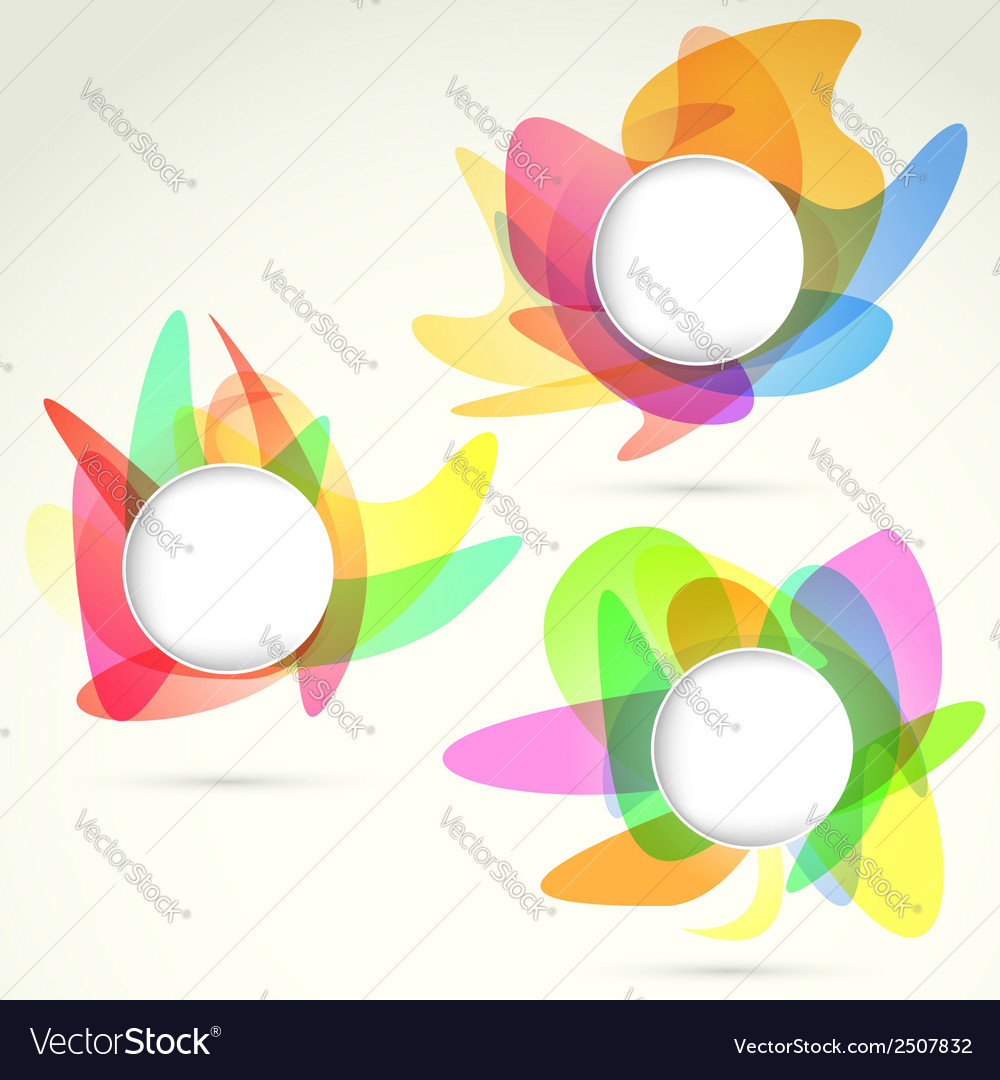Bright colorful design elements templates vector   Price: 1 Credit (USD $1)
