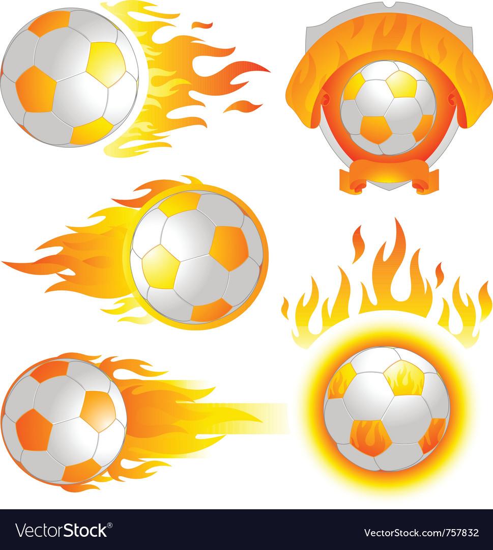Fire soccer emblem vector   Price: 1 Credit (USD $1)