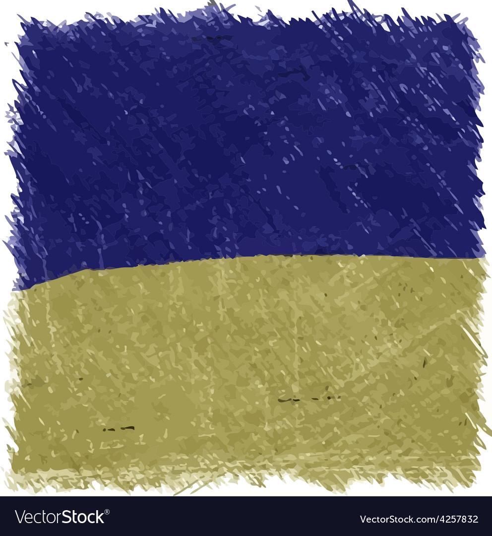 Flag of ukraine handmade square shape vector | Price: 1 Credit (USD $1)