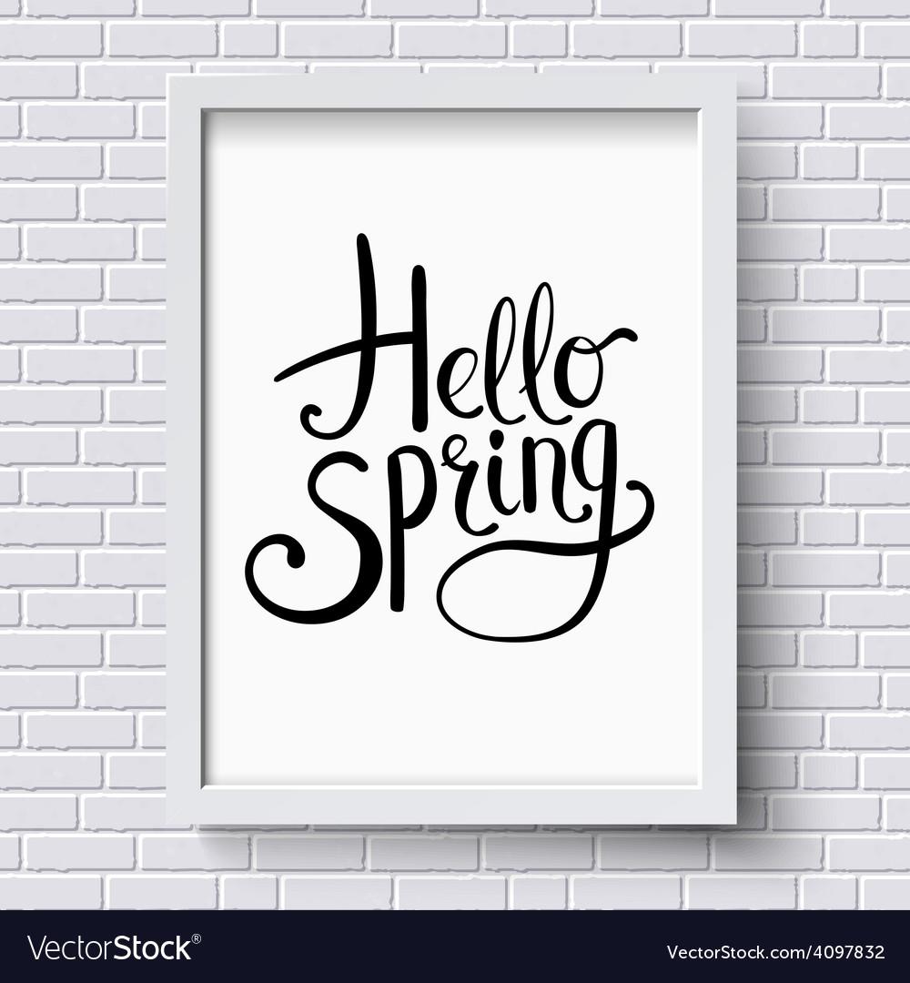 Hello spring greeting card design vector | Price: 1 Credit (USD $1)