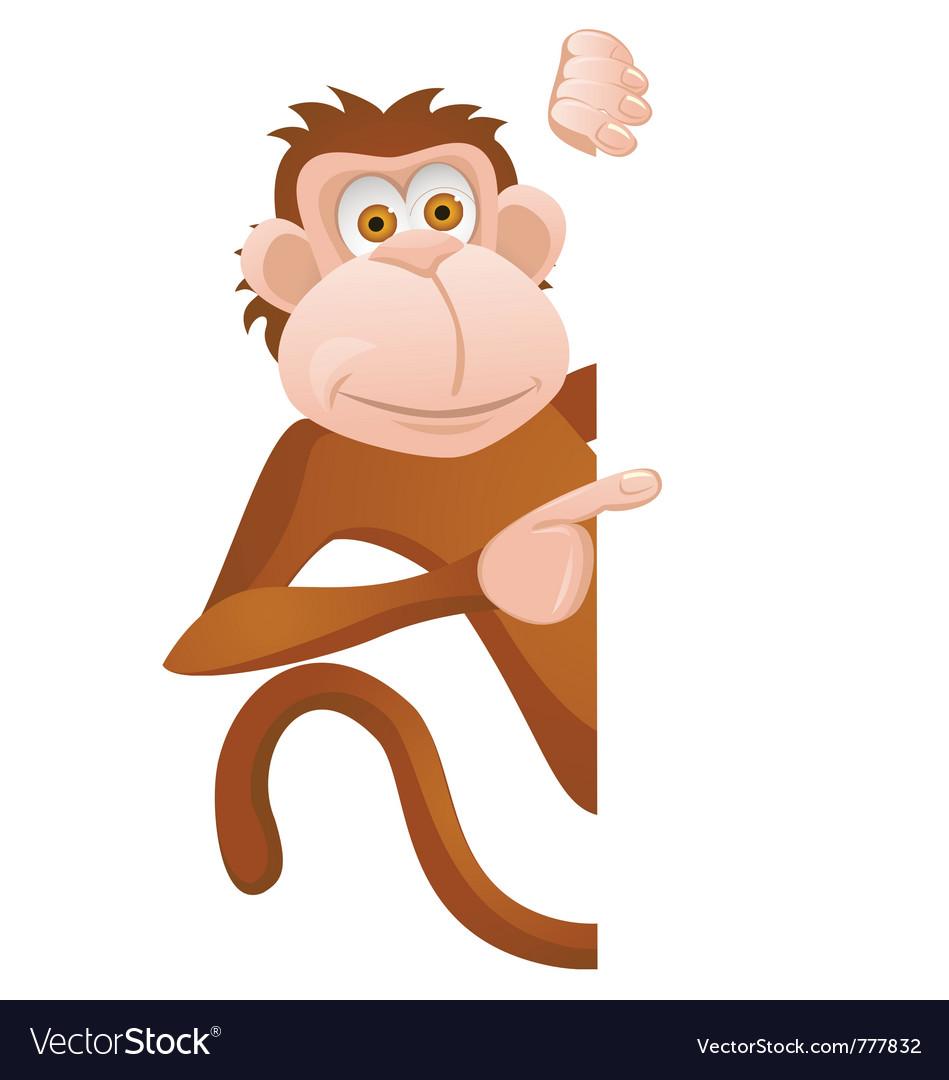 Monkey cartoon vector | Price: 1 Credit (USD $1)