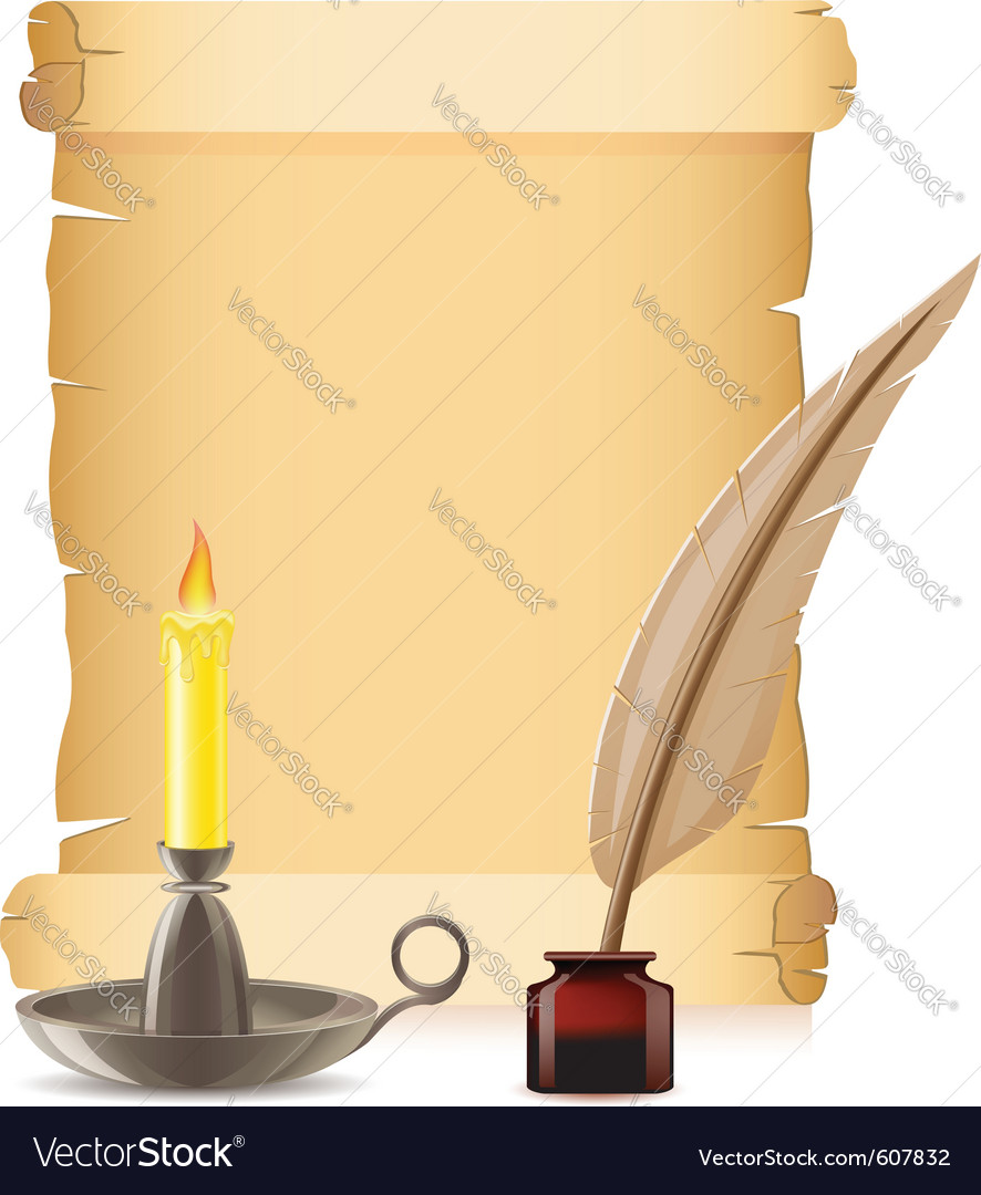 Old paper and candlestick vector | Price: 1 Credit (USD $1)