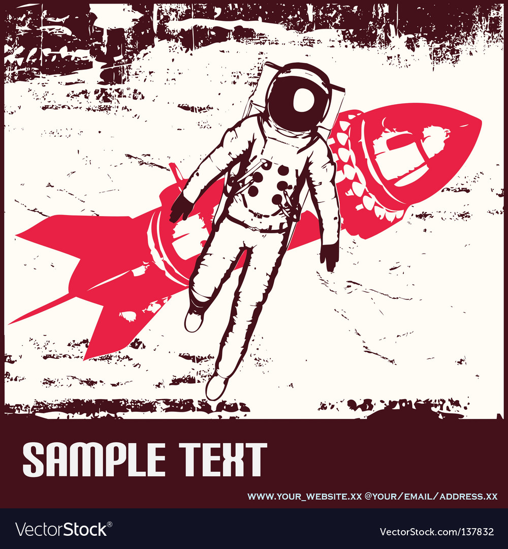 Retro space travel vector