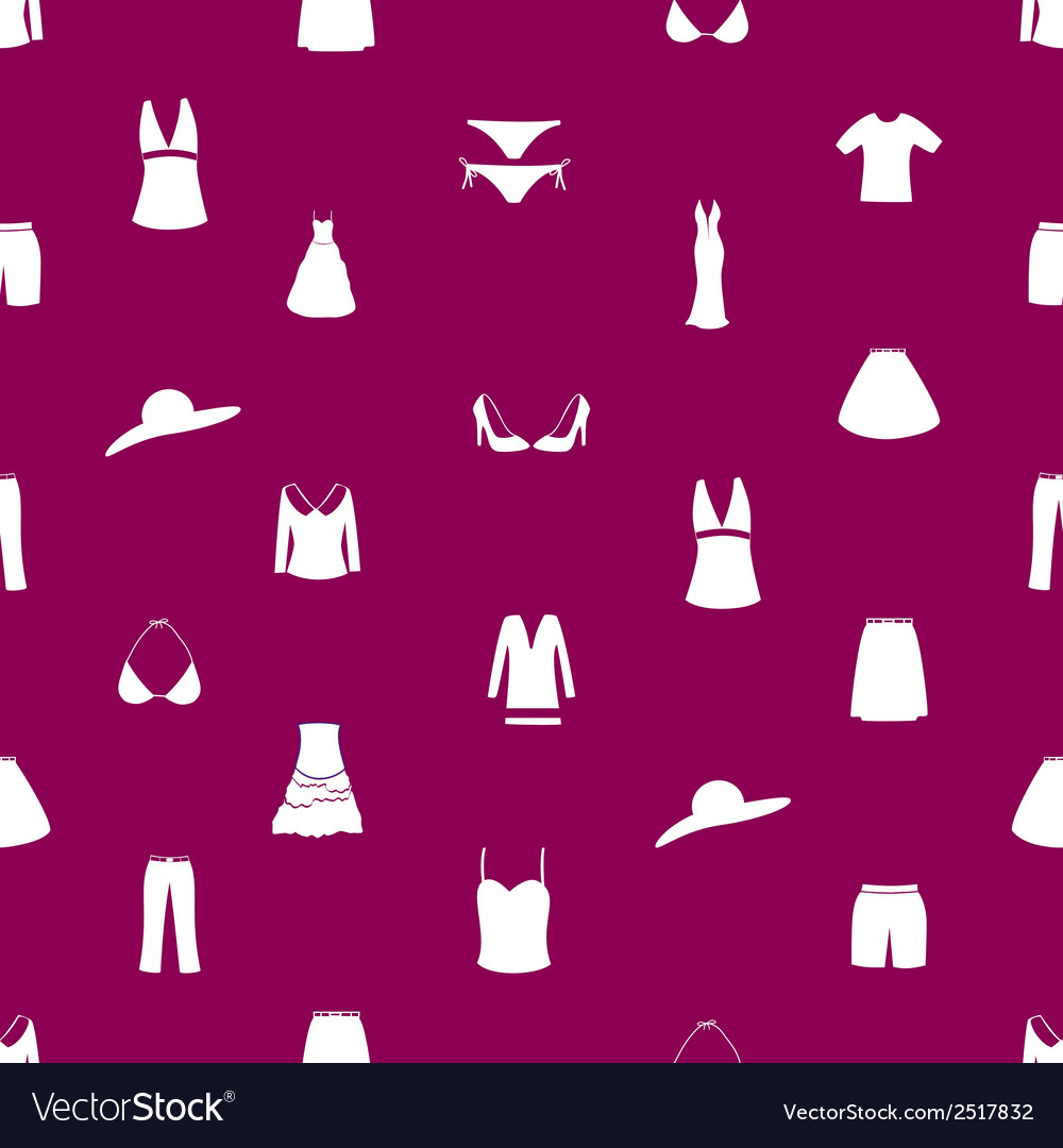 Womens clothing icon pattern eps10 vector | Price: 1 Credit (USD $1)