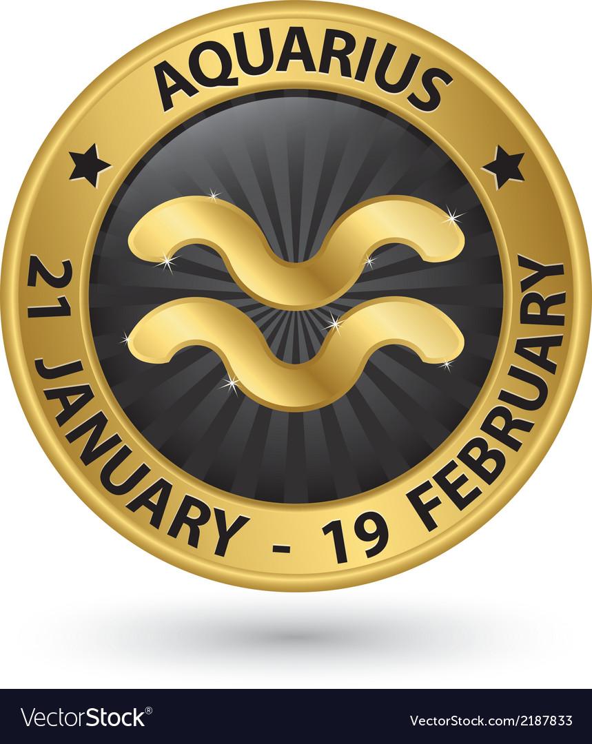 Aquarius zodiac gold sign virgo symbol vector | Price: 1 Credit (USD $1)