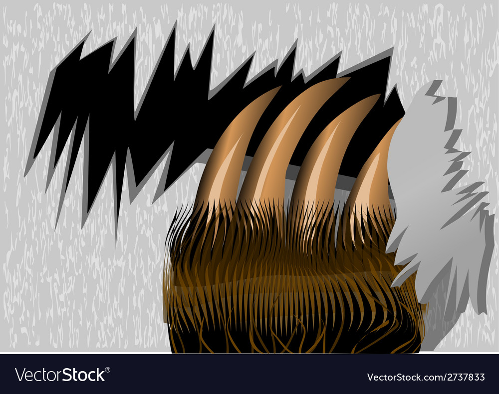 Bear claws tearing wood vector | Price: 1 Credit (USD $1)