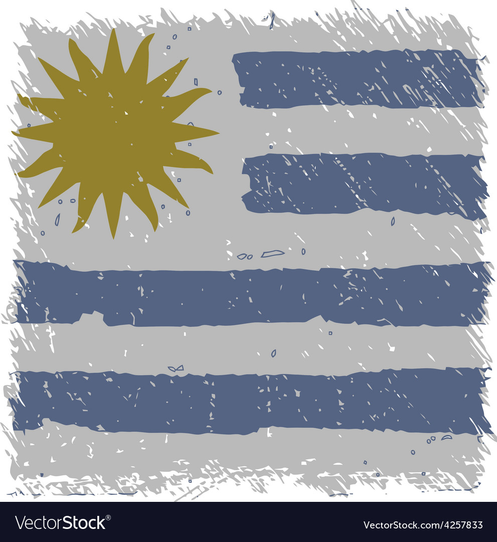Flag of uruguay handmade square shape vector | Price: 1 Credit (USD $1)