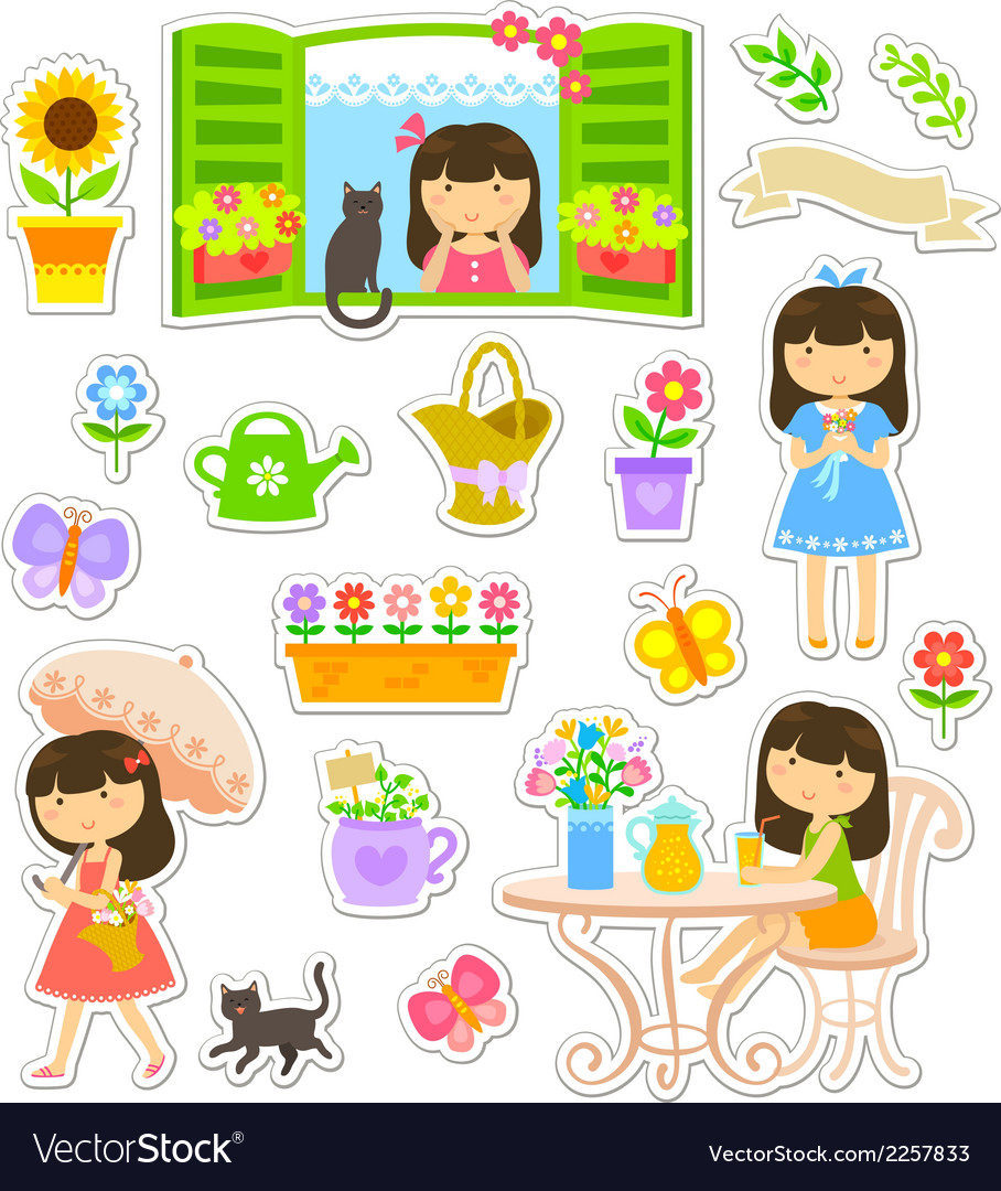 Gardening collaction vector | Price: 1 Credit (USD $1)