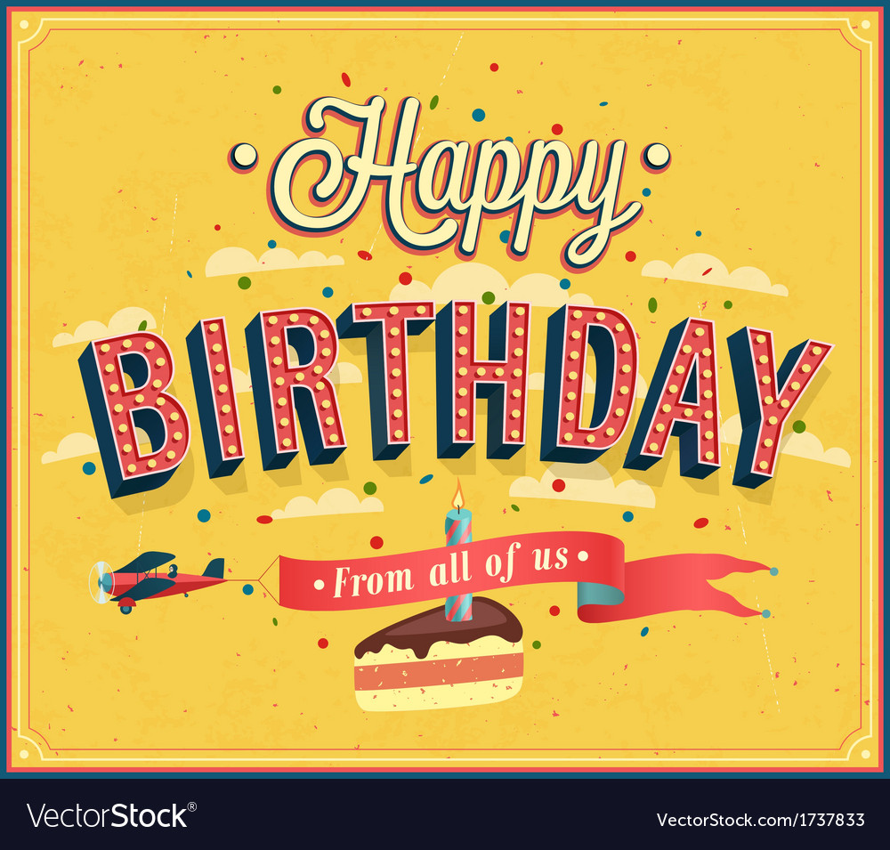 Happy birthday typographic design vector | Price: 1 Credit (USD $1)