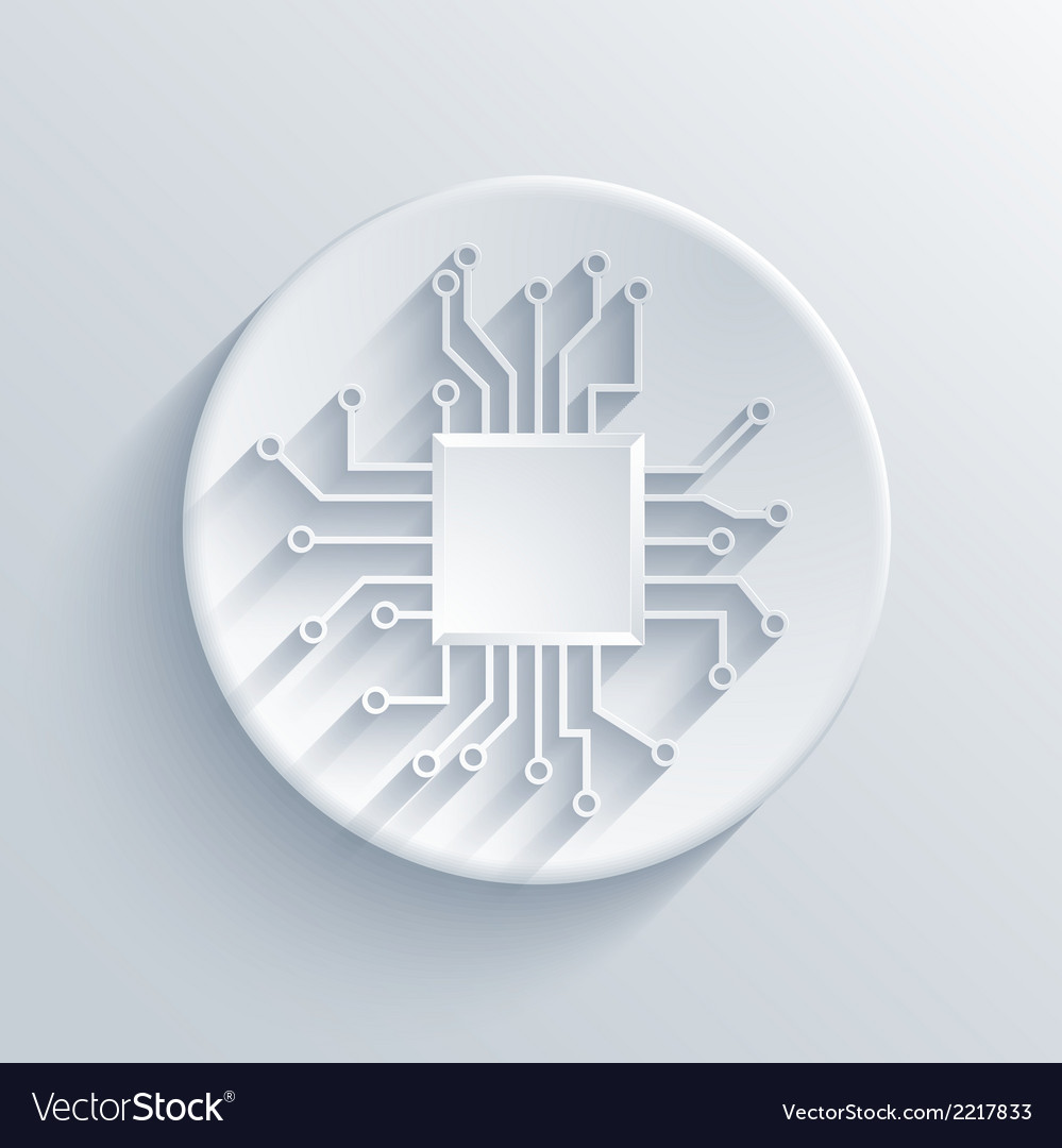 Modern circuit board icon vector | Price: 1 Credit (USD $1)