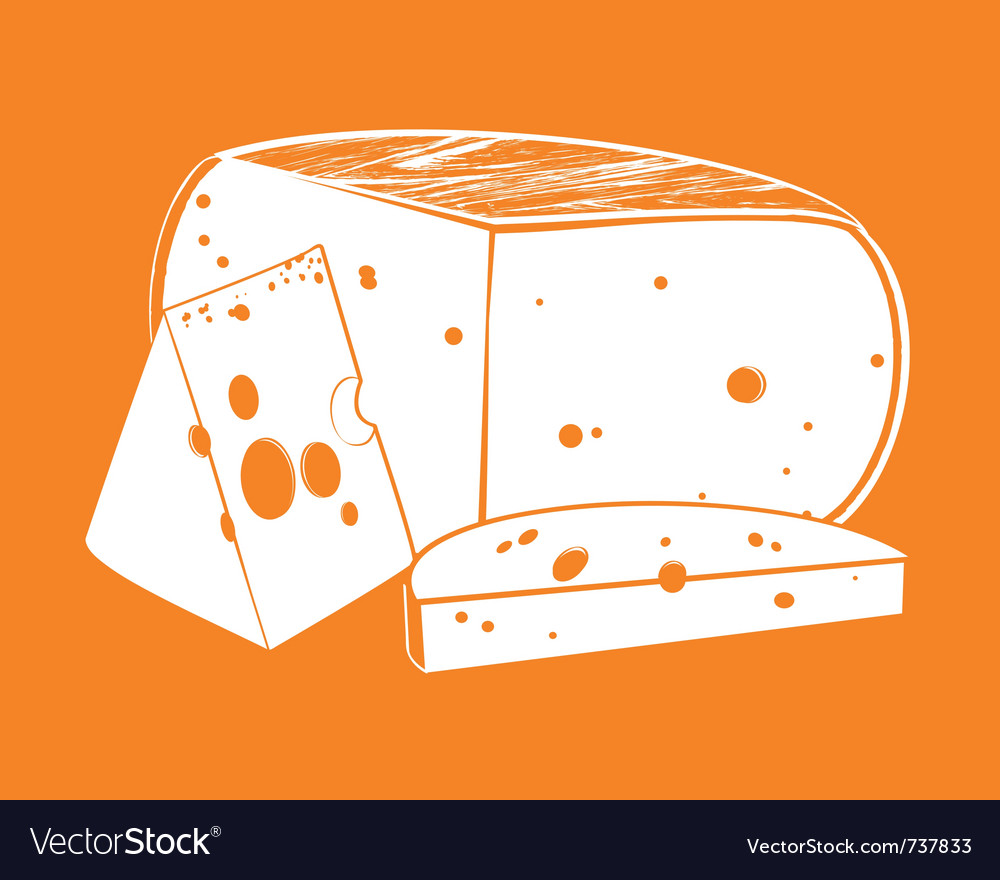 Pieces of cheese vector | Price: 1 Credit (USD $1)