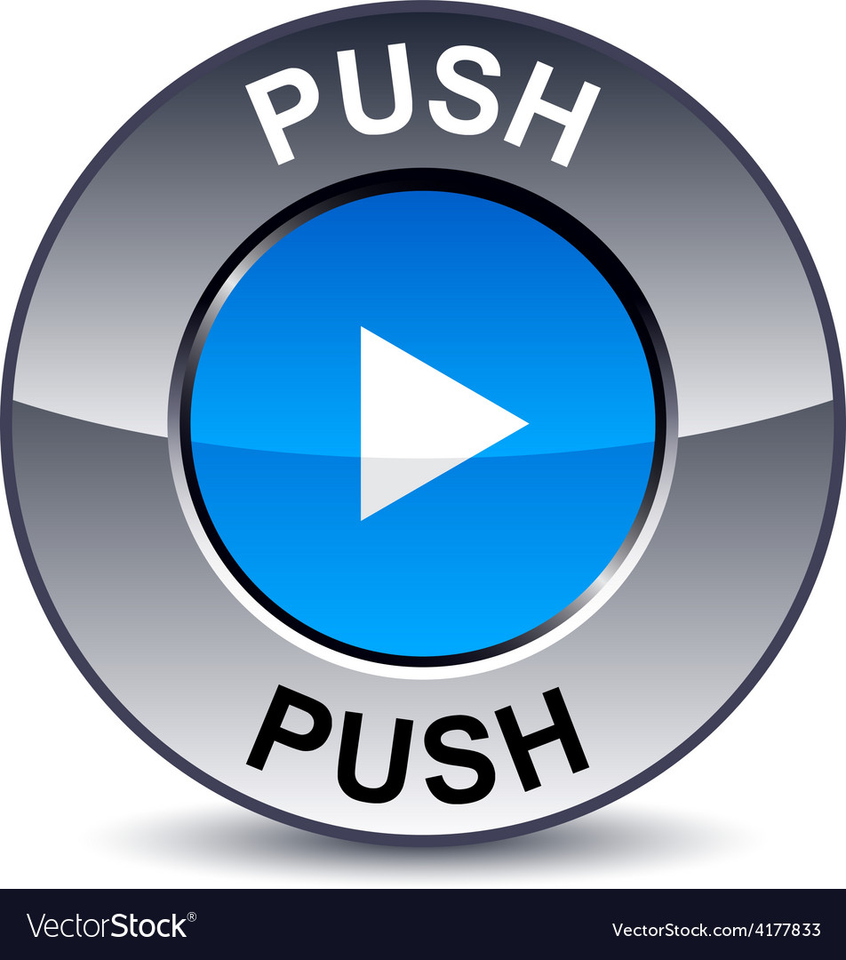 Push round button vector | Price: 1 Credit (USD $1)