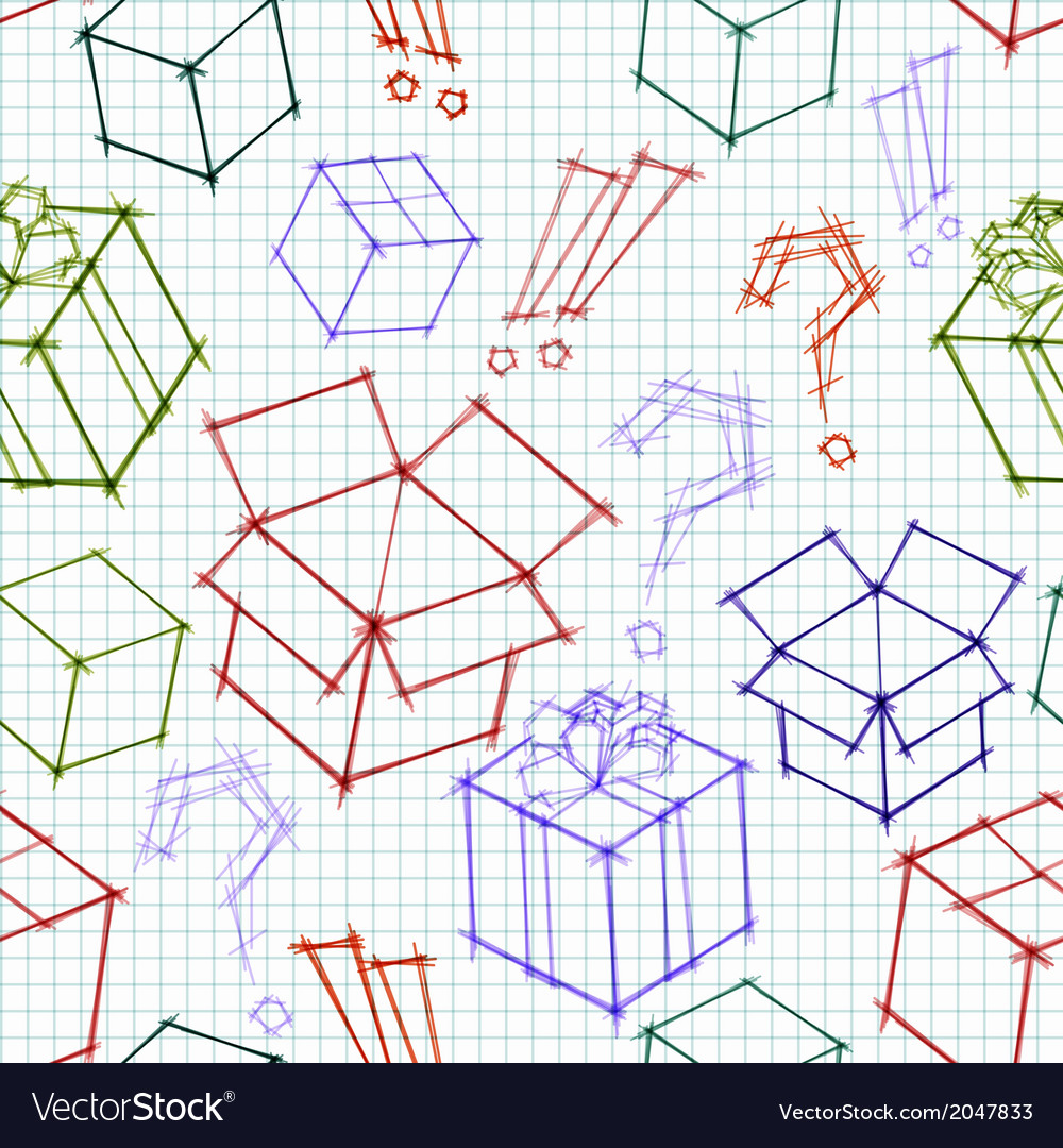 Seamless background with doodle sketches of gifts vector | Price: 1 Credit (USD $1)