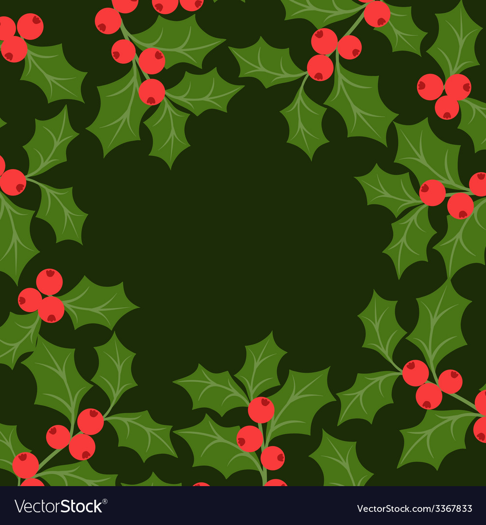 Winter background design with stylized holly vector | Price: 1 Credit (USD $1)