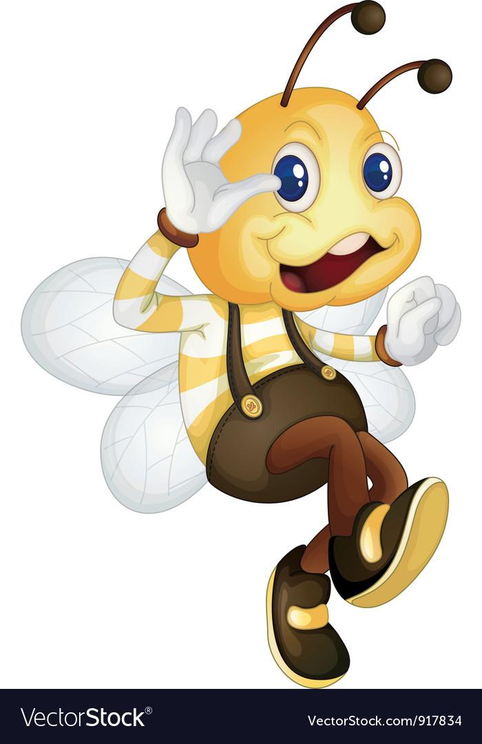 Bee waving vector | Price: 3 Credit (USD $3)