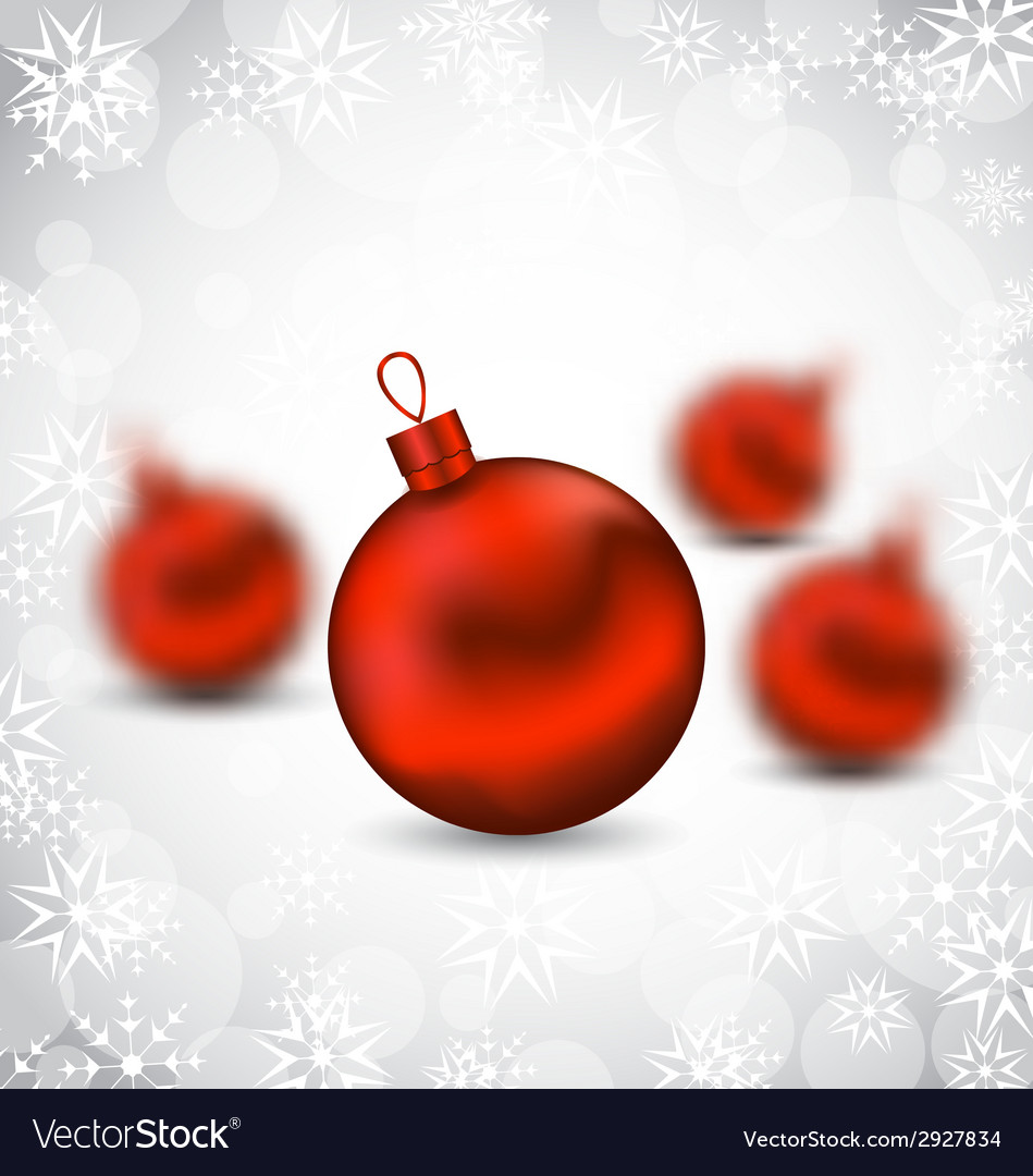 Christmas background with red glass balls and vector | Price: 1 Credit (USD $1)