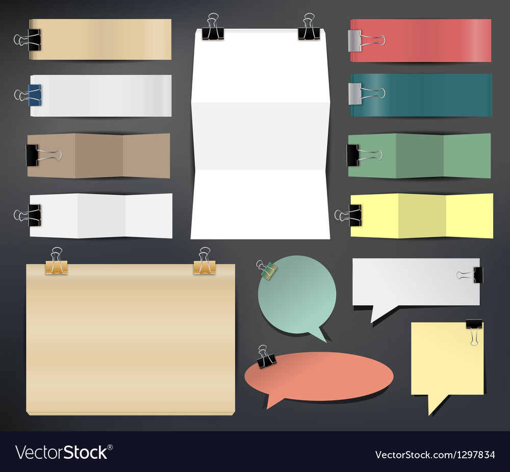Collection of various papers vector | Price: 1 Credit (USD $1)