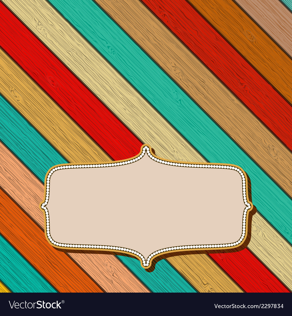 Colorful wooden background with copyspace  eps8 vector | Price: 1 Credit (USD $1)