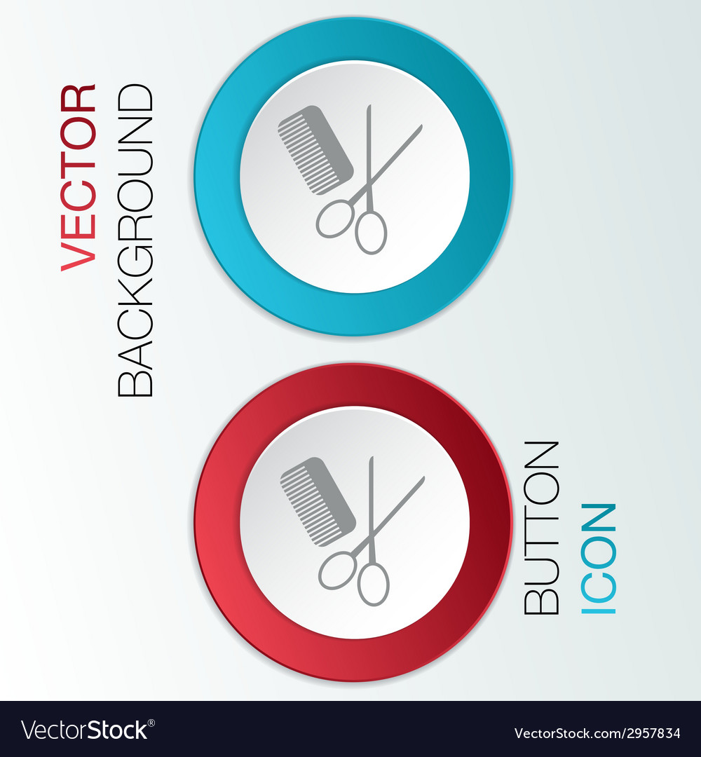 Comb scissors barbershop vector | Price: 1 Credit (USD $1)