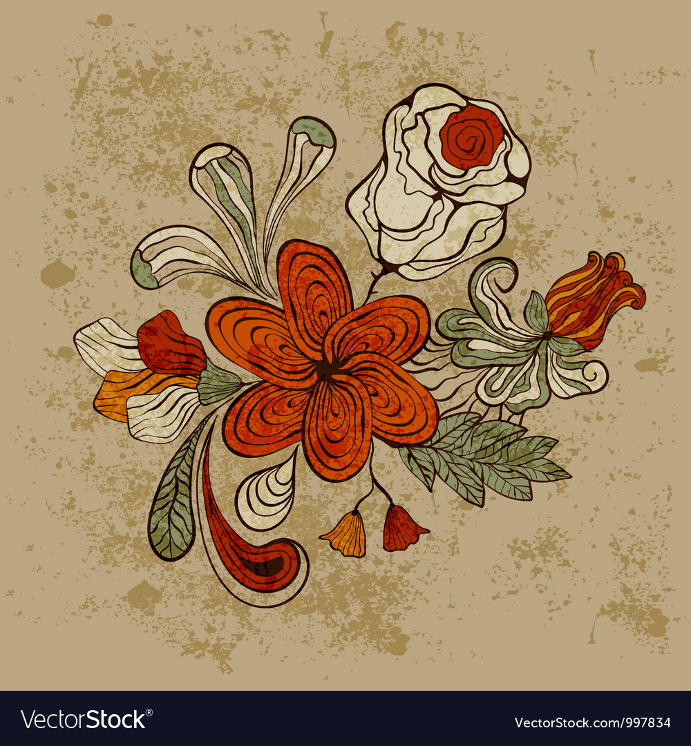Floral bizarre pattern vector | Price: 1 Credit (USD $1)