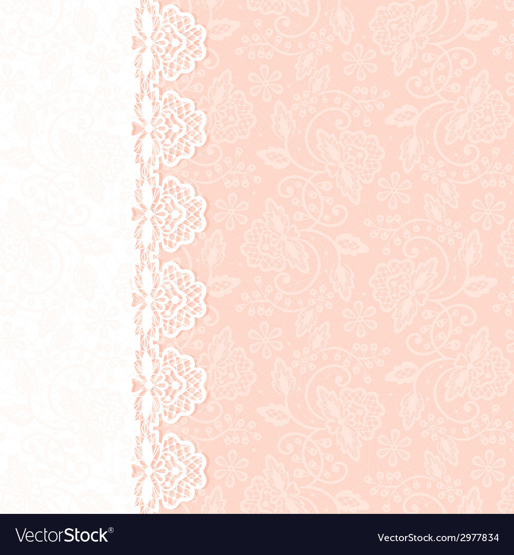 Greeting card with lace border vector | Price: 1 Credit (USD $1)