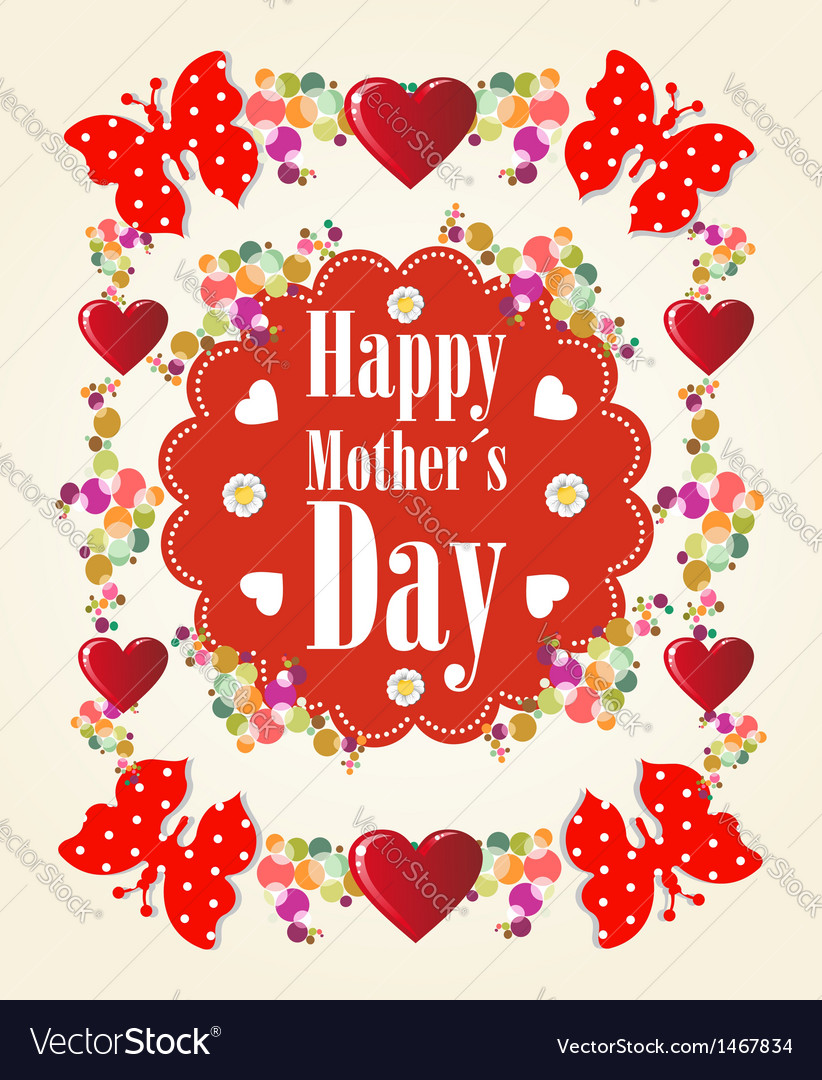 Happy mothers day background vector | Price: 1 Credit (USD $1)