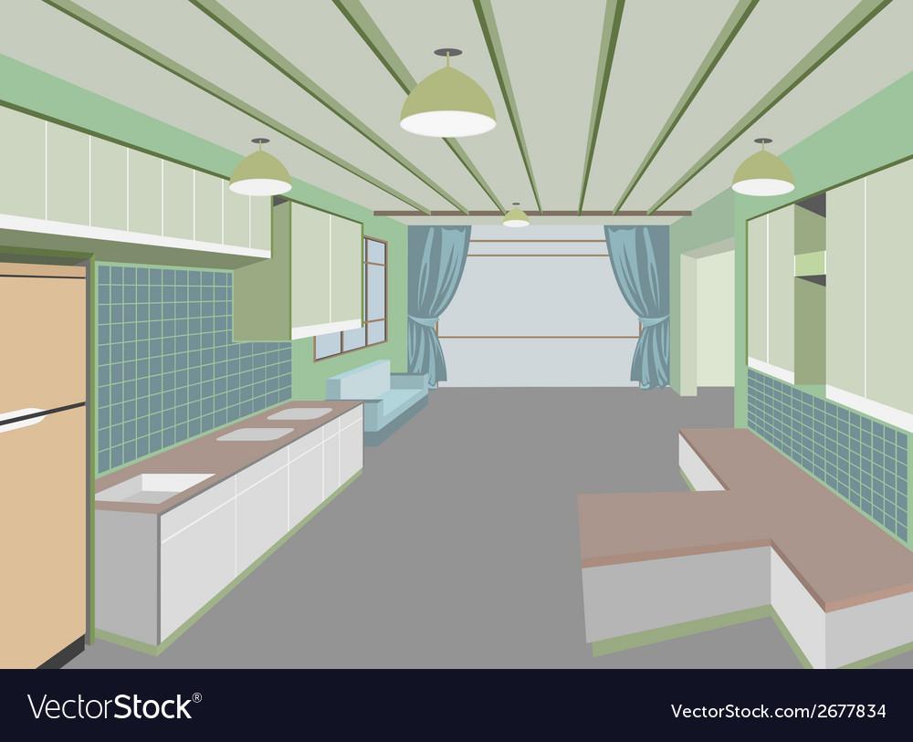 Kitchen room vector   Price: 1 Credit (USD $1)
