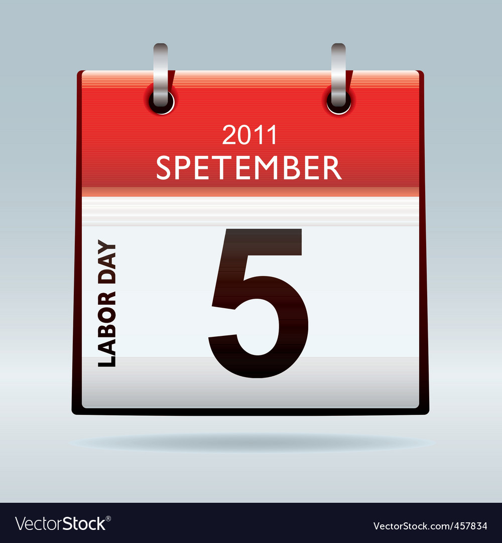 Labor day calendar vector | Price: 1 Credit (USD $1)