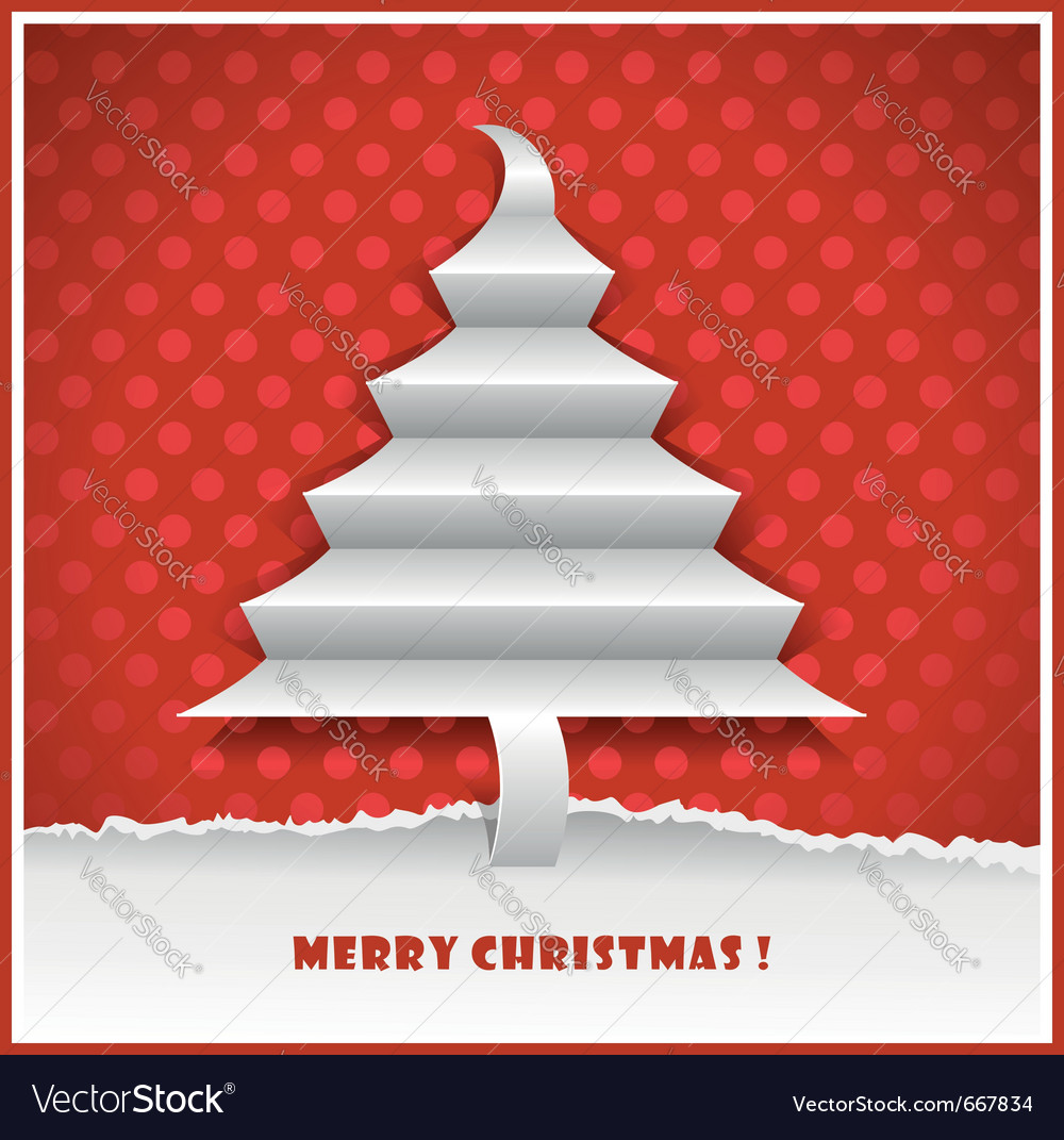 Original new year card with christmas tree made fr vector | Price: 1 Credit (USD $1)