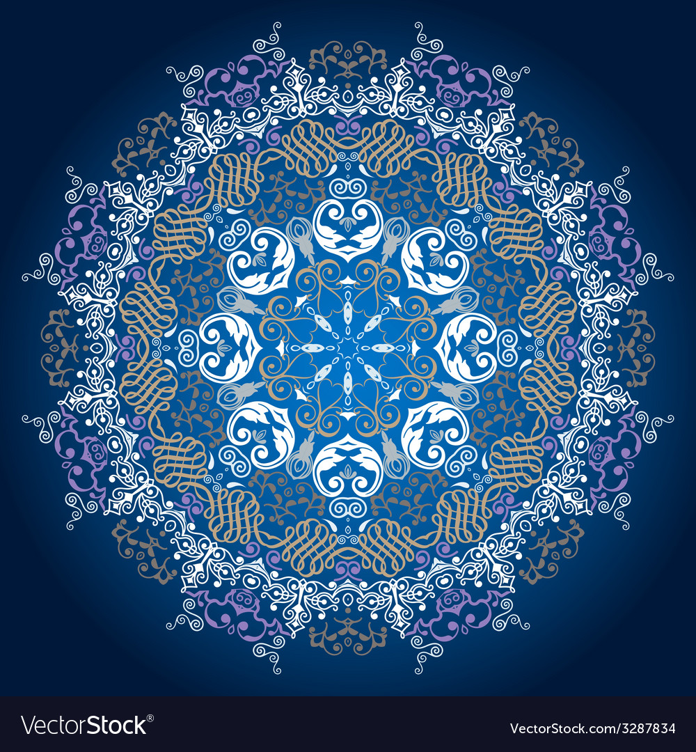 Ornamental round lace patterndelicate circle vector   Price: 1 Credit (USD $1)