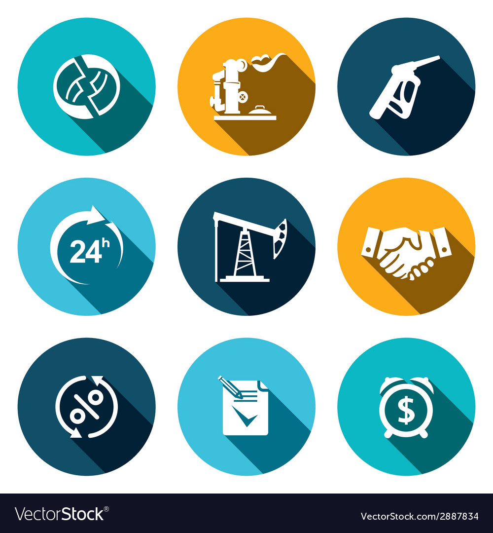 Sale of petroleum products icon set vector   Price: 1 Credit (USD $1)