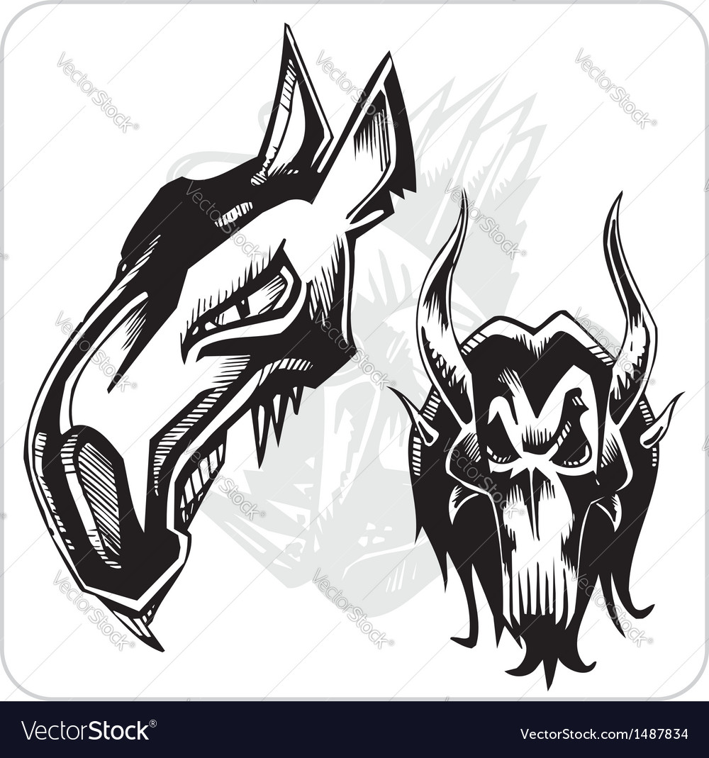 Set - aggressive ox vector | Price: 1 Credit (USD $1)