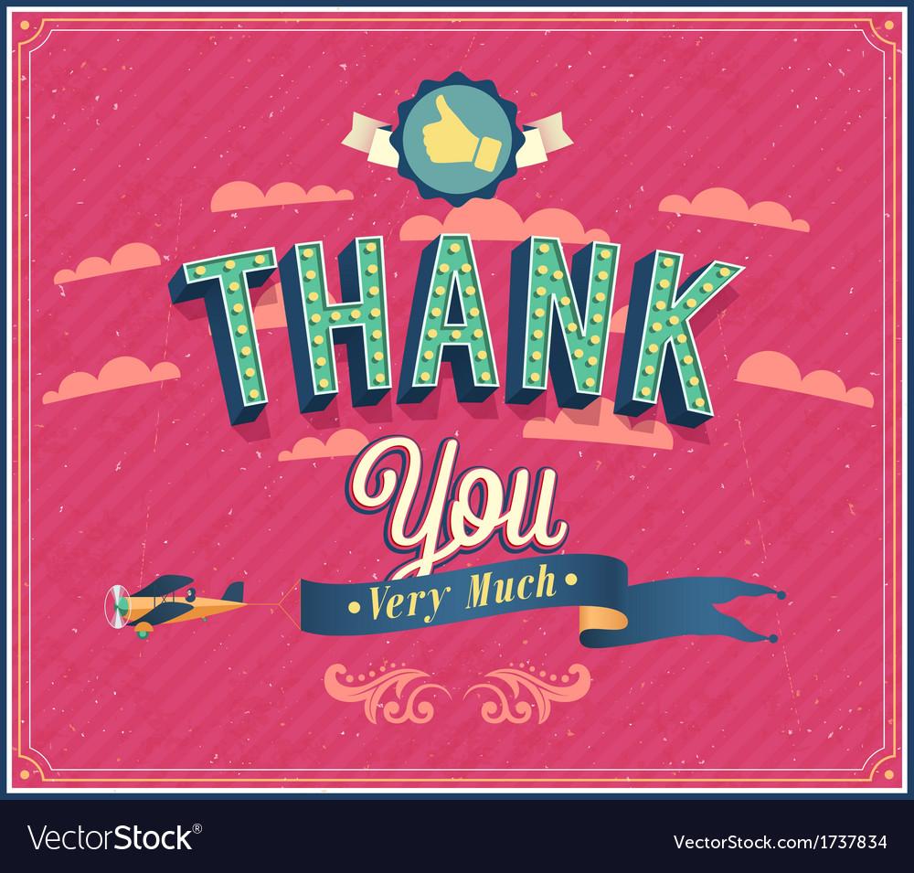 Thank you typographic design vector   Price: 1 Credit (USD $1)